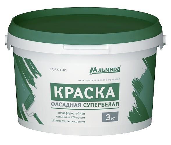 Краска ВД-АК «ФАСАДНАЯ СУПЕРБЕЛАЯ «ЛЮКС»